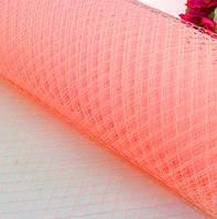 Вуаль шляпная, розово-персиковый (50 см)