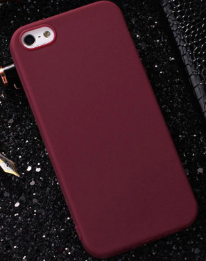 Чехол из тонкого матового TPU для Iphone 6 plus коричневый / чехол на айфон / чохол / ультратонкий / бампер / накладка