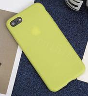 Чехол из тонкого матового TPU для Iphone 6 plus салатовый / чехол на айфон / чохол / ультратонкий / бампер / накладка