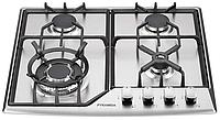 Pyramida PFX 641 inox luxe (600 мм.) газовая варочная поверхность, нержавеющая сталь, фото 1