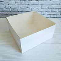 Коробка 16х16х8 см. (белая с прозрачной крышкой)