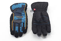 Перчатки Kombi STRIKE JR, подростковые, черные в синюю клеточку, размер XS