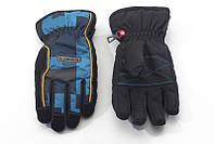 Перчатки Kombi STRIKE JR, подростковые, черные в синюю клеточку, размер M