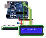 ЖК дисплей 1602 синий, LCD для Arduino, фото 5