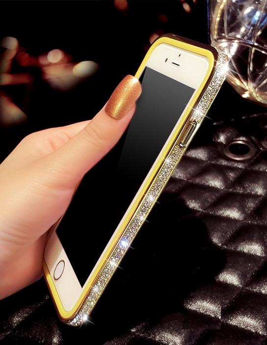 Бампер с камнями Swarovski для iPhone 6