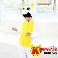 Костюм кигуруми для детей Единорог белый с желтым цветом 353479e0583ef