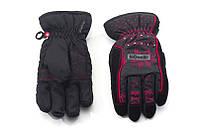 Перчатки Kombi STRIKE JR, подростковые, черные с красным узором, размер L