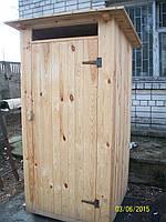 Туалетная кабина для дачи из шалевки