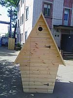 Туалетная кабина для дачи из блокхауса с сидением