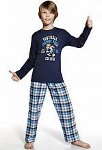 Оригинальная Хлопковая Пижама Для Мальчиков С Изображением Льва Футболиста Cornette Польша. 146/152см.