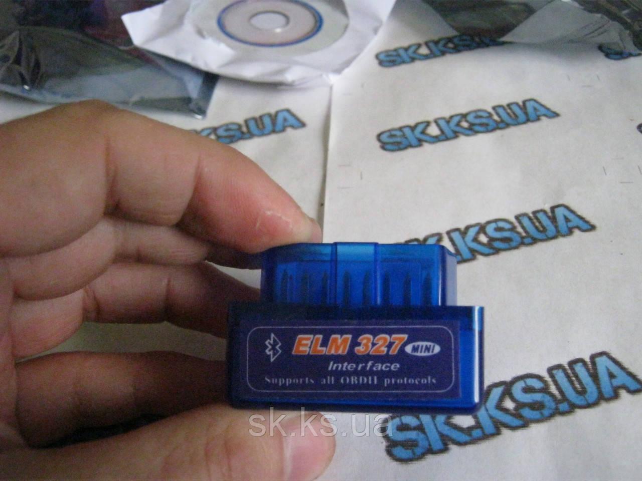 Беспроводной диагностический сканер для авто ELM327 Bluetooth OBD2 V2.1(без диска)