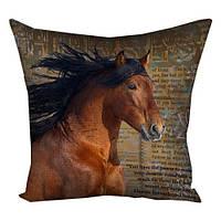 Подушка с принтом (габардин) 30x30, 40x40, 50x50 Animalistic Лошадь (3P_NP053)