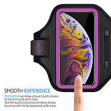 Спортивный чехол LOVPHONE универсальный влагостойкий  светоотражающий розовый, фото 2