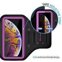 Спортивный чехол LOVPHONE универсальный влагостойкий  светоотражающий розовый, фото 3