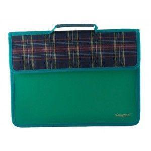 Папка портфель А4 на липучке, пластиковая, 1 отделение, с ручками ПР-2-1307