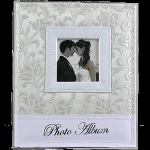 Свадебный фотоальбом из кожзама на 200 фото