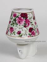 Фарфоровый ночник (светильник) Цветы Pavone