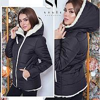 Куртка женская норма на овчине размеры 42-46 цвет електрик