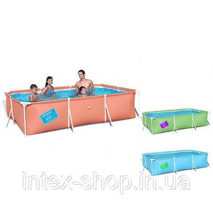 Детский каркасный бассейн Bestway 56222, размер 300 х 201 х 66 см (Синий), фото 2