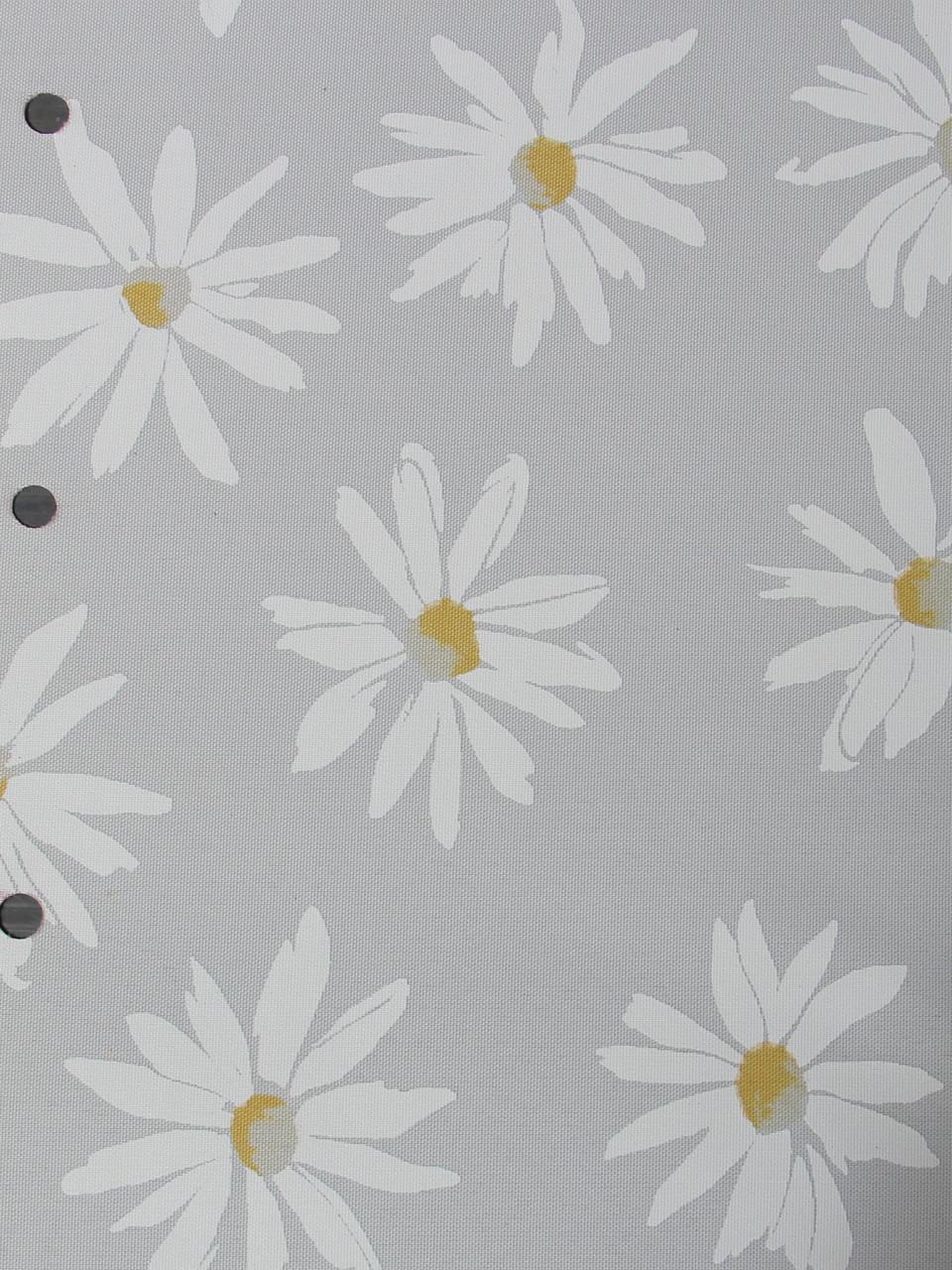 Рулонные шторы Ткань Ромашки Белый