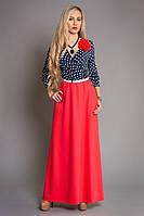Платье макси с розой, р 42-48