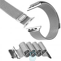 Ремешок Apple Watch Milanese Loop 38mm Silver серебристый