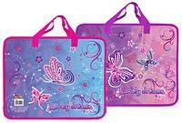 Детская папка портфель А4 Kidis Lovely dreams, пластиковая, на замке, с ручками