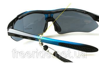 Спортивные UV400 велоочки OA (5 сменных линз) черно-синие, фото 2