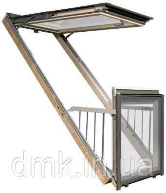 Мансардное окно-балкон FAKRO FGH-V P2 Galeria
