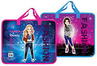 Детская папка портфель А4 Kidis Fashion, пластиковая, на замке, с ручками