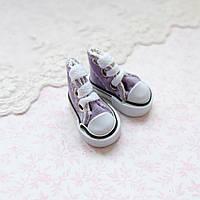 Обувь для кукол Кеды Конверс Мини 3.5*2 см СИРЕНЬ