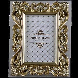Фоторамка золотого цвета на одно фото 10х15