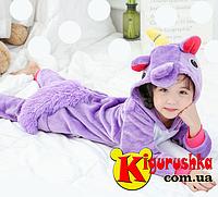 Кигуруми для детей Единорог - фиолетовый. 075b592b4b962