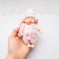 Лялька-пупс в розовом - миниатюра, 13 см
