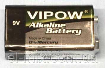 "Батарейка 6LR61(""крона"") alkaline ""Vipow""  BAT0062"