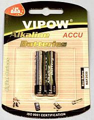"""Батарейка LR03(AAA) alkaline """"Vipow"""" блист.-2шт  BAT0066B"""