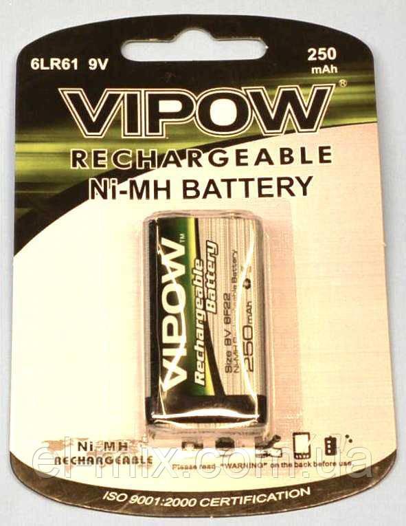 "Аккумулятор Ni-Mh ""крона"" Vipow  9V 250mAh  BAT0052"