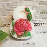 """Глицериновое мыло """"Роза с бутоном""""., фото 2"""