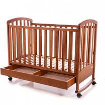 Детская кроватка Baby Care BC-470BC тик, фото 3