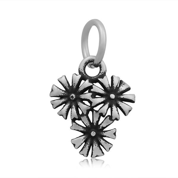 Металлическая подвеска цветы 14х12мм из нержавеющей стали для рукоделия