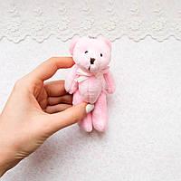Розовый медведь мягкий брелок-миниатюра, 12 см