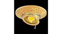Латунный потолочный встраиваемый светильник с поворотной лампой EMPORIO ROUND, яркое золото