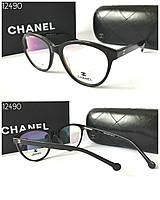 Стильная Оправа Chanel черная  с  дужками Flex- система