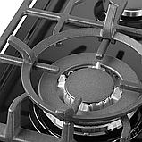 Pyramida PFE 643 black luxe, газова варильна поверхня, чорна емаль, фото 2