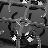 Pyramida PFE 643 black luxe, газова варильна поверхня, чорна емаль, фото 3