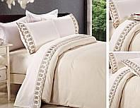 Постельное белье сатин с кружевом  производство Турция торговой марки TIFFANY, фото 1