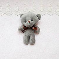 Серый медведь мягкий брелок-миниатюра, 12 см