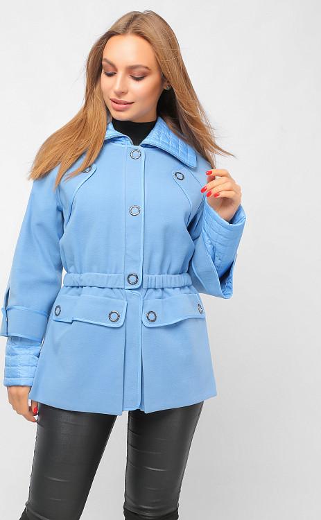 Женская голубая куртка демисезон