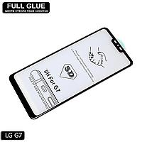 Защитное стекло Full Glue LG G7 / G7+ (Black) - 5D Полная поклейка