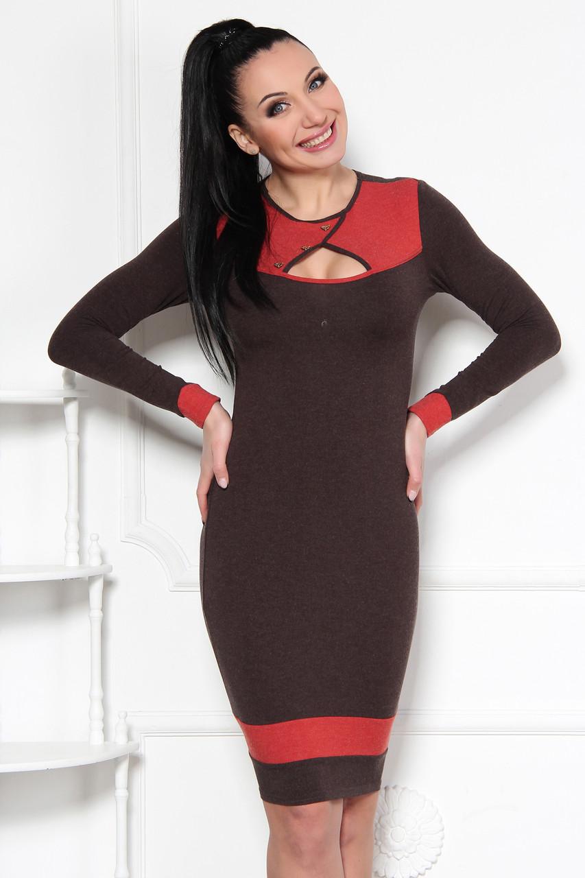 Модное ангоровое платье